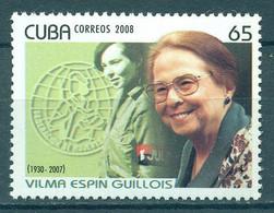 🚩 Sale - Cuba 2008 Vilma Espin Guillois, 1930-2007  (MNH)  - Revolutionaries, Women, Famous Women - Militaria