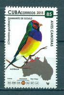 Sale - Cuba 2015 Birds - Gouldian Finch  (MNH)  - Birds - Unused Stamps