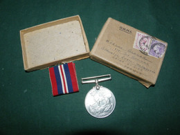 ENGLAND : MEDAILLE 1939 1945 : GEORGIUS VI G : BR OMN : REX ET INDIAE IMP : - Grossbritannien