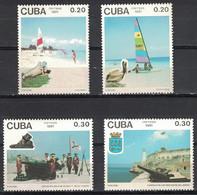 🚩 Sale - Cuba 1991 Tourism  (MNH)  - Birds, Weapon, Tourism, Fortresses - Militaria
