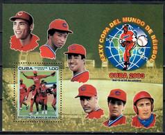 🚩 Sale - Cuba 2003 Baseball World Cup, Cuba  (MNH)  - Sport, Baseball - Unclassified
