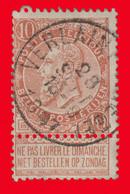 "COB N° 57 - Belle Oblitération ""VERLAINE"" - 1893-1900 Barba Corta"