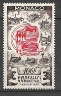 Monaco N°  420   25 ème Rallye Monte Carlo  Neuf * *   B/TB   Soldé à Moins De 15 %         Le Moins Cher Du Site ! ! ! - Unused Stamps