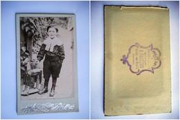 PHOTO CDV JEUNE GARCON CHIC  MODE  Cabinet FRANCOIS  A BESSE SUR BRAYE SARTHE - Old (before 1900)