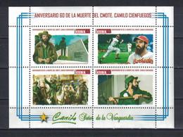 Sale - Cuba 2019 The 60th Anniversary Of The Death Of Camilo Cienfuegos, 1932-1959  (MNH)  - Baseball, Weapon, Camilo Ci - Baseball