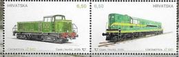 CROATIA, 2020, MNH, TRAINS, LOCOMOTIVES, 2v - Treinen