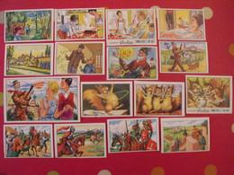"""16 Images Chocolat Poulain. Lot 678 . Chromo, Album 6 """"les Belles Chansons De France"""", Séries 121 à 145. Vers 1960 - Other"""