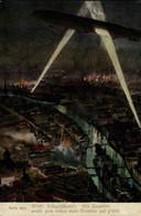 Rare Ein Zeppelin Wirft Zum Ersten Male Bomben Auf Paris  WWI WWICOLLECTION - Otros