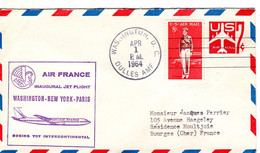 AIR FRANCE INAUGURAL    JET FLIGHT WAWHINTON-NEW YORK -PARIS BOEING 707 INTERCONTINENTAL 1964 - Sin Clasificación