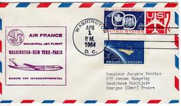 AIR FRANCE INAUGURAL    JET FLIGHT WAWHINTON-NEW YORK -PARIS BOEING 707 INTERCONTINENTAL 1954 - Zonder Classificatie