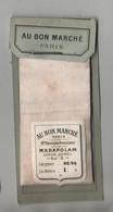Echantillon Tissu Au Bon Marché Paris Boucicaut Madapolam Coton Jumel Renforcé Comptoir Blanc De Coton Occasion - Non Classificati