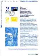 """"""" CONSEIL DE L'EUROPE 2014 """" Sur Document Philatélique Officiel De 2014. N° YT SERV 159 160. Parfait état DPO - Postdokumente"""
