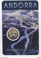 Pièce De 2 € Andorre Andorra 2019 Coupe Du Monde De Ski Alpin Sous Blister - Andorra