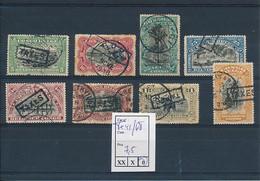 BELGIAN CONGO  1915 ISSUE COB TX41/48 USED - Taxe: Oblitérés