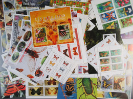 Insekten, Wie Schmetterlinge, Falter Etc. über 70 Verschiedene Blöcke-Insects Such As Butterflies, Moths,etc.over 70diff - Non Classificati