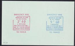 """France Grève N° 2,40 F Rouge  Et 9,60 F Bleu """"de L'office Lainé""""essais De  Surcharge Sur Carte - Strike Stamps"""