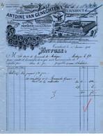 Papier De Fantaisie - Typographie - Lithographie - Cartonnages - Exportation - Antoine Van Genechten - Turnhout - 1901. - Imprenta & Papelería