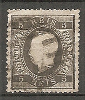 POR - Yv. N° 35A Dent 12 1/2 (o)  5r Noir  Louis Ier  Cote  7 Euro  BE R  2 Scans - Used Stamps