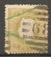 POR - Yv. N° 39bA Dent 12 1/2 Papier Couché (o)  20r Bistre-olive Louis Ier  Cote 30 Euro  BE  2 Scans - Used Stamps