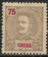 Funchal – 1898 King Carlos 75 Réis Mint Stamp - Funchal