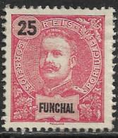 Funchal – 1898 King Carlos 25 Réis Mint Stamp - Funchal