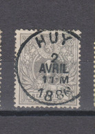 COB 43 Centraal Gestempeld Oblitération Centrale HUY - 1869-1888 Lying Lion