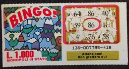 Numero  86 GRATTA E VINCI  - BINGO - Lottery Tickets