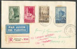 Série EXPOSITION De BRUXELLESobl. Sc BRUXELLES 1 Sur Lettre Recommandée Et Par Avion Du 11-IX-1934 Vers Coblence (Allem - Briefe U. Dokumente