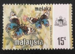 USED STAMPS Malacca!Melaka - Butterflies -  1977 - Malaysia (1964-...)