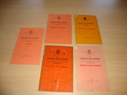 Crimes De Guerre Commis Lors De La Libération (5 Volumes) - Guerra 1939-45