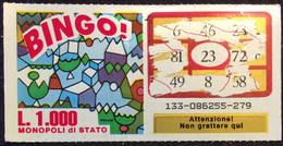 Numero Centrale 23 GRATTA E VINCI  - BINGO - Lottery Tickets
