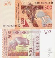 Mali - West African States 2012 - 500 Francs - Pick 419D UNC Letter D - Mali