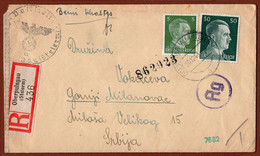 AUSTRIA-SLOVENIA-GERMANY-SERBIA, OBERPULSGAU REGISTERED CENSORED LETTER 1943 - Covers & Documents