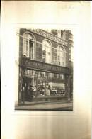 CHARLEROI - Magasin Chapellerie Elégante - Maison COTON-BERNARD Photo Sur Carton 30 X 19.5 Cm, Bord Gauche Carton Rogné - Lugares