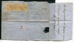 France Colonies - Yvert 3 Bande De 3 Sur Fragment - Águila Imperial