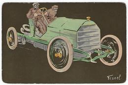 TRES RARE - OLD VINTAGE AUTO RACING RACE CAR - DE FEZNEL - 1910 - Andere