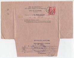 813 Gandon Seul Tarif 15F Annulé AR Avis De Réception D'un Recommandé La Roche Derrien Côtes Du Nord 1950 > Ploezal - Posttarieven