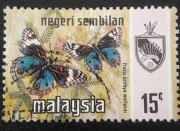 USED STAMPS Negeri-Sembilan - Butterflies -1971 - Malaysia (1964-...)