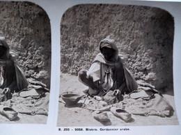 PHOTO STÉRÉO Algérie - BISKRA -  Cordonnier - Coll. Vues D'Algérie - Ed. Paris-Stéréo TBE - Stereoscoop