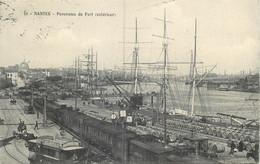 44 - NANTES - Panorama Du Port Exterieur - Train + Voilier - Belle Carte En 1909 - Nantes