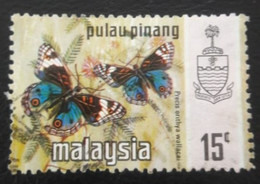 USED STAMPS Penang!Pulau-Pinang - Butterflies -1971 - Malaysia (1964-...)