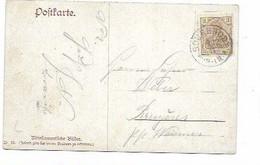 LE 1107. CANTONS DE L' EST. TP GERMANIA 3 Pf SOURBRODT 9.12.11 S/CP Fantaisie Vers Bruyères (K. WAIMES). TB - Other
