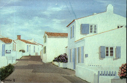"85  ILE D'YEU  Rue De La Meule  Huile Sur Toile "" GENEVIEVE G ""  (état ° - Ile D'Yeu"