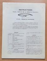 Notice Mode D'emploi Instructions Règle à Calculer GRAPHOPLEX Modèle N° 630 Géomètre Topographe - Andere Geräte