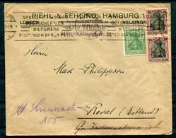 Deutsches Reich - Brief Hamburg Nach Reval/Estland 1921 Germaniafrankatur - Cartas