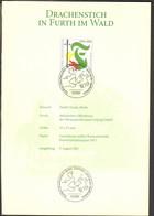 BRD Treueblatt Zum Ersttag Drachenstich Furth Im Wald 2001 - Cartas