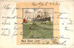 Red Star Line - Antwerp - New-York  1906 - Paquebote