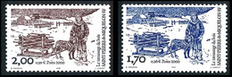 ST-PIERRE ET MIQUELON 2000 - Yv. 711 Et 712 ** Faciale= 0,56 EUR - Ramassage Du Bois (2 Val) 1f70 Et 2f00 ..Réf.SPM12239 - Neufs