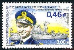 ST-PIERRE ET MIQUELON 2001 - Yv. 756 **   Faciale= 0,46 EUR - Commandant Jacques Pépin Lehalleur  ..Réf.SPM12282 - Neufs