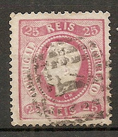 POR - Yv. N° 40A Dent 12 1/2 Papier Ordinaire (o)  25r  Rose Louis Ier  Cote 4 Euro  BE  2 Scans - Used Stamps